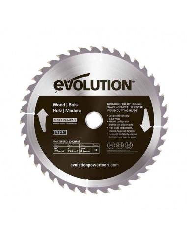 Lama Evolution 255 mm per taglio LEGNO